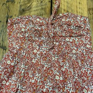 Tie Front Strapless Dress Liberty June's Meadow